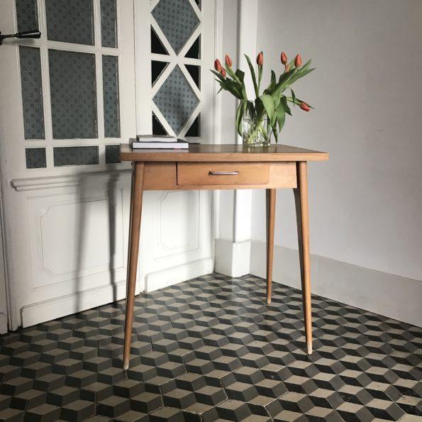Bureau en bois Stella scandinave table d'appoint console