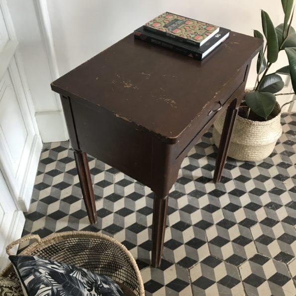 Table d'appoint bureau console en bois peint