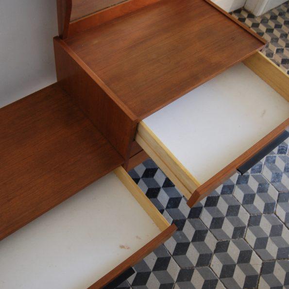 Coiffeuse console en bois