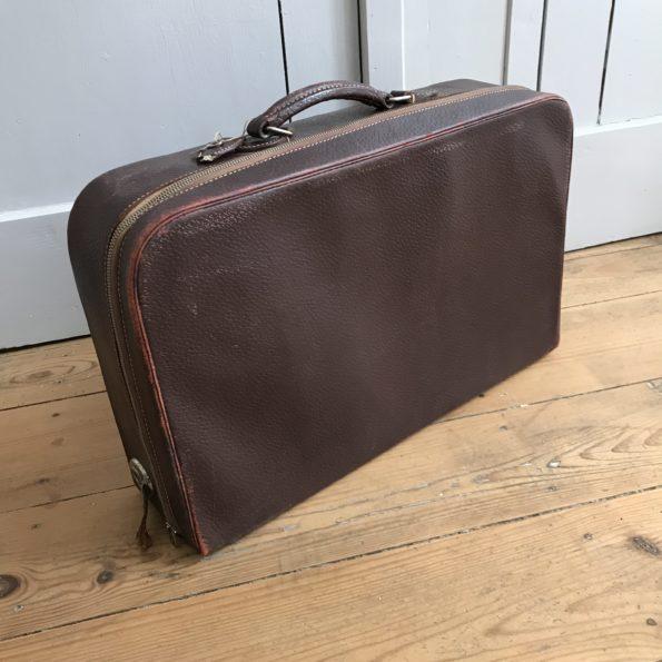 Valise vintage à fermeture éclair