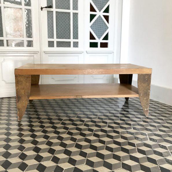 Table basse en bois et métal