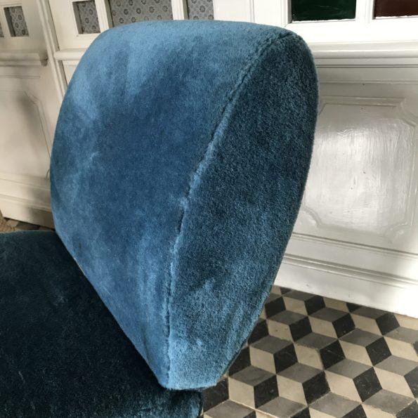 Fauteuil Pelfran bleu vintage années 60