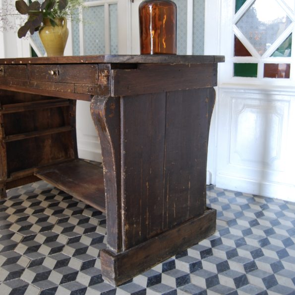 Meuble de métier comptoir bijoutier ancien bois