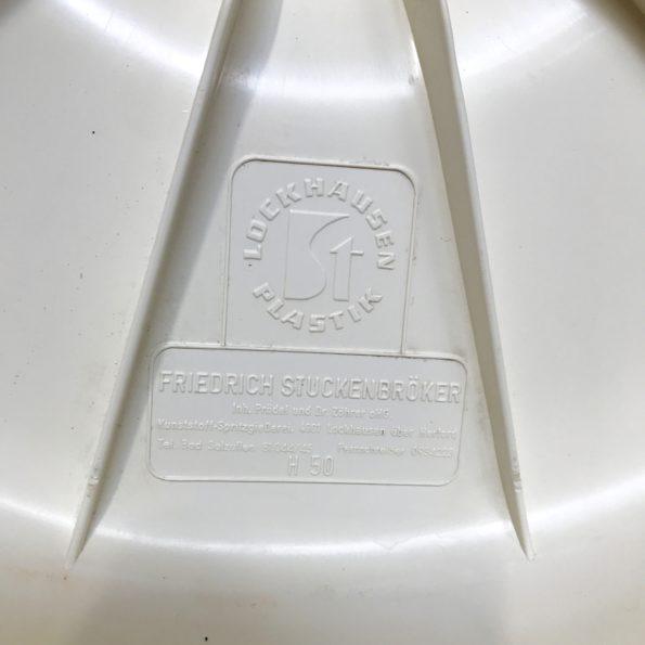 Tabouret vintage par Friedrich Stuckenbröker pour Lockhausen Plastik