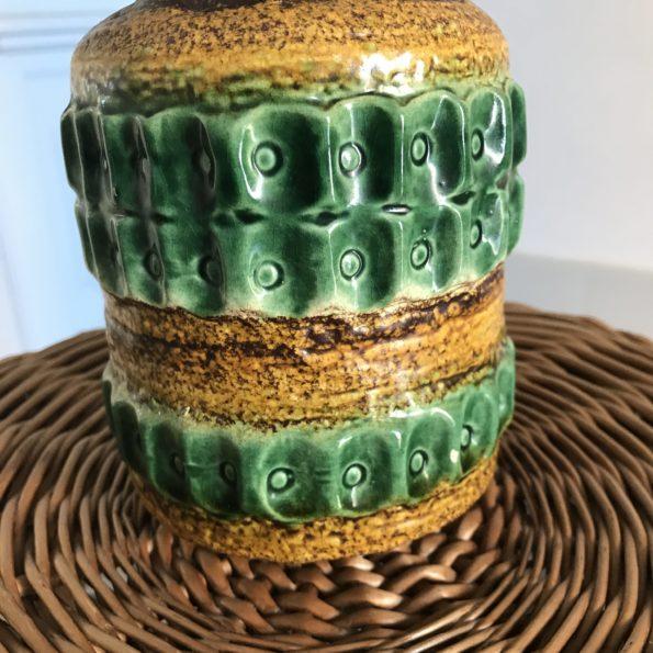 Vase céramique West Germany vert et jaune