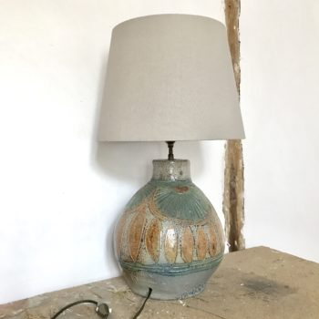 Lampe en grès céramique