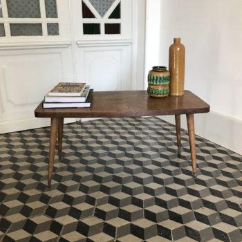 Table basse en bois d'appoint scandinave bois massif