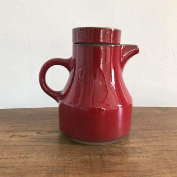 Carafe ancienne céramique rouge