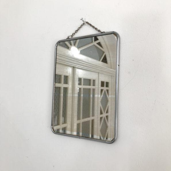 Miroir barbier avec chaînette vintage