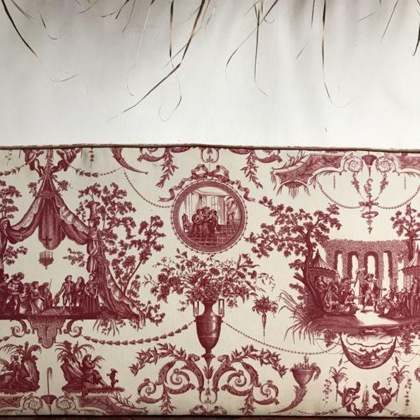 Tête de lit en tissu Toile de Jouy