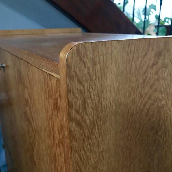 Bureau secrétaire en bois vintage