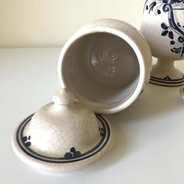 Pot à pharmacie céramique craquelée
