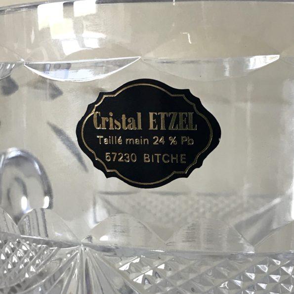 Seau à champagne en verre de cristal ETZEL à Bitche