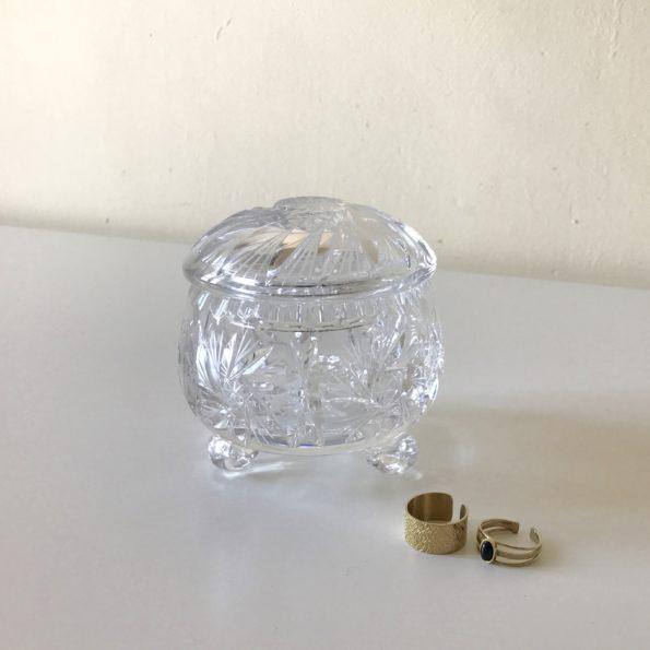Boîte en verre cristal