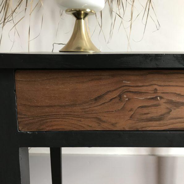 Table bureau en bois et noir peinture libéron