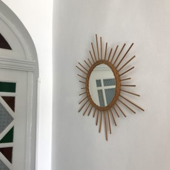 Miroir rotin soleil