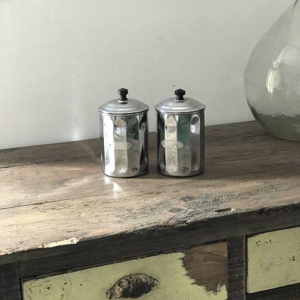 Pots de cuisine à épices en cuivre chromé boîtes alimentaires