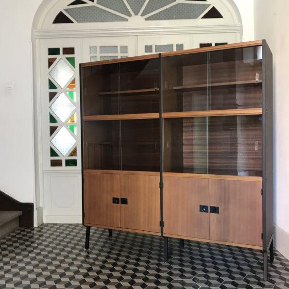 Bibliothèque vitrine designer français René-Jean Caillette éditions Charron années 50