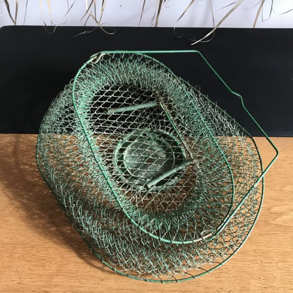 Bourriche nasse panier de pêche en métal