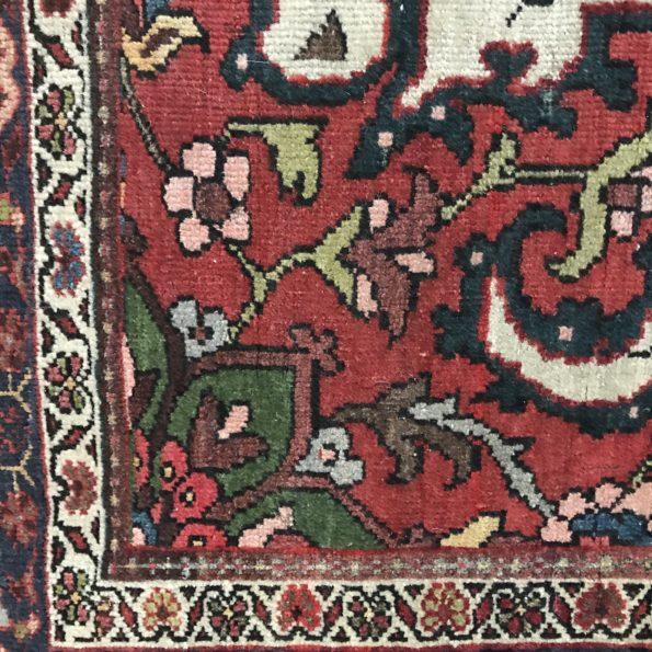 Tapis multicolore fait main laine