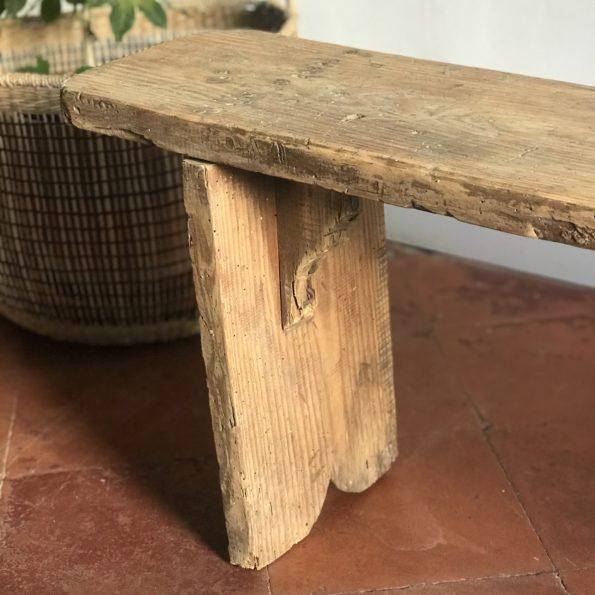 Banc ancien vintage en bois