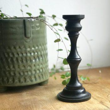 Bougeoir en bois noir