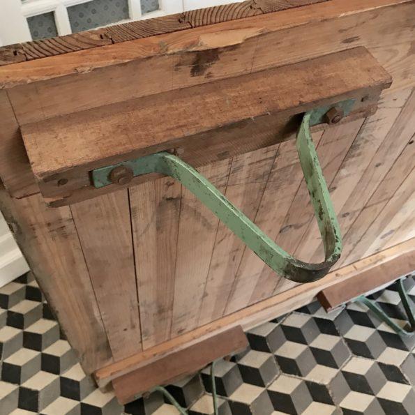 Table basse industrielle vintage atelier usine bois métal