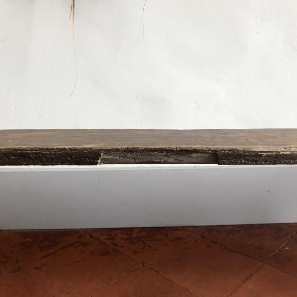 Banc vintage ancien en bois
