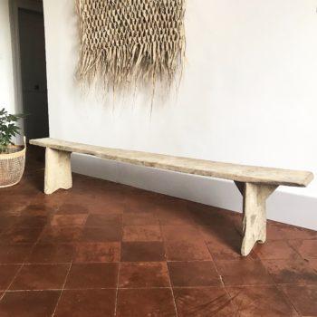 Banc vintage en bois ancien