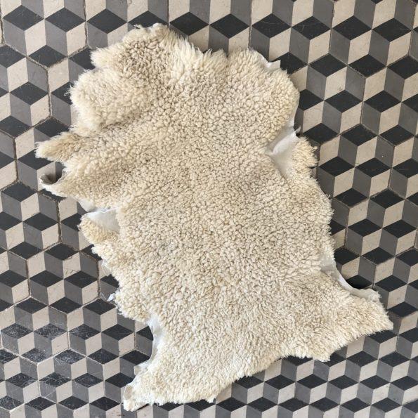 Peau de mouton tapis vintage