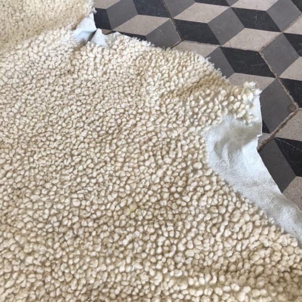 Peau de mouton tapis véritable naturelle vintage