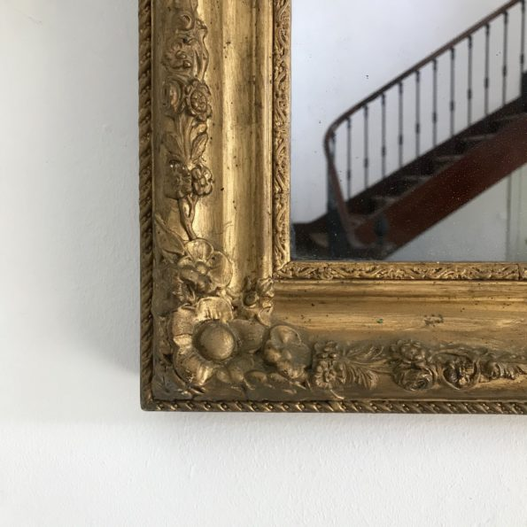 Miroir doré vintage style Empire