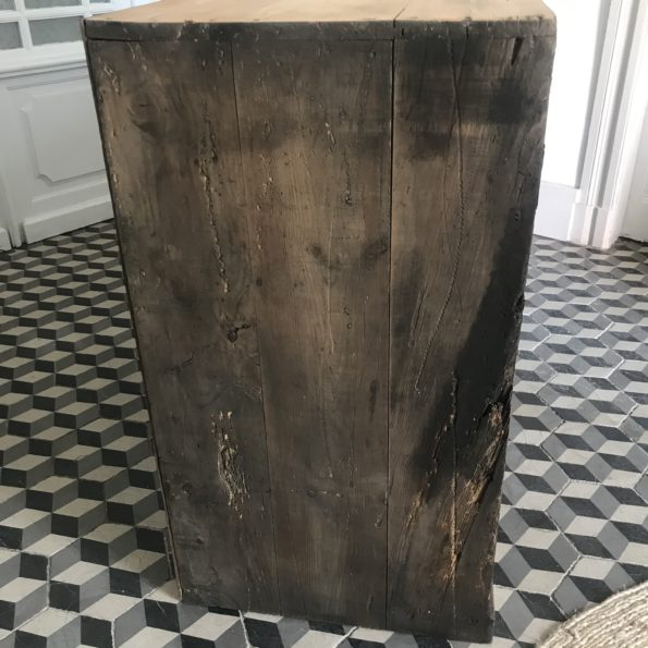 Ancien meuble de métier en bois à casiers vintage