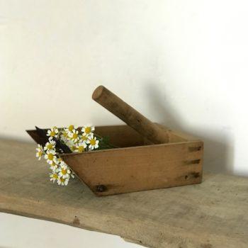 Peigne à myrtilles ramasse cueilleur fruits en bois et métal outil jardin