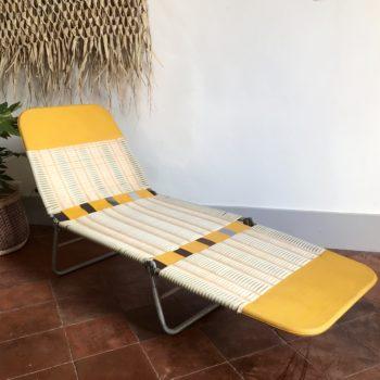Transat bain de soleil ou chaise longue vintage Kurz