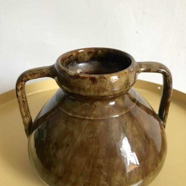 Vase céramique avec anses vintage