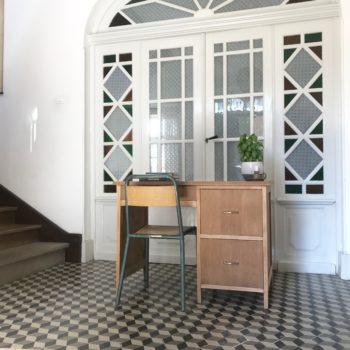 Bureau en bois vintage