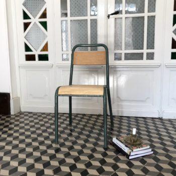 Chaise de bureau Stella en bois et métal