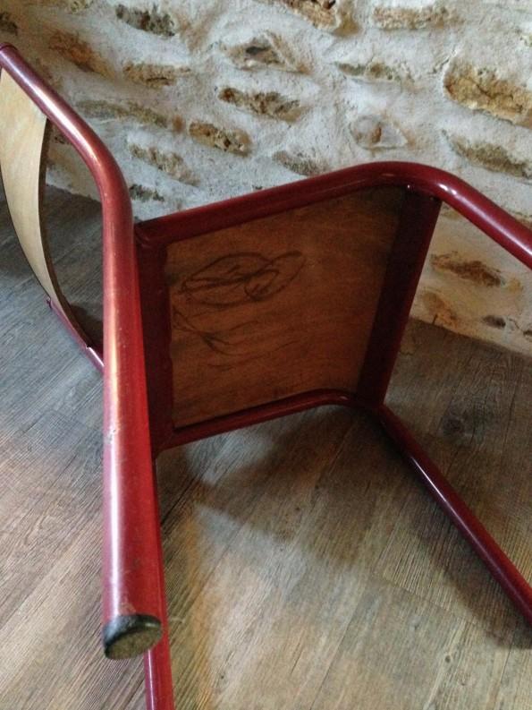Chaise d'école vintage marque Mullca