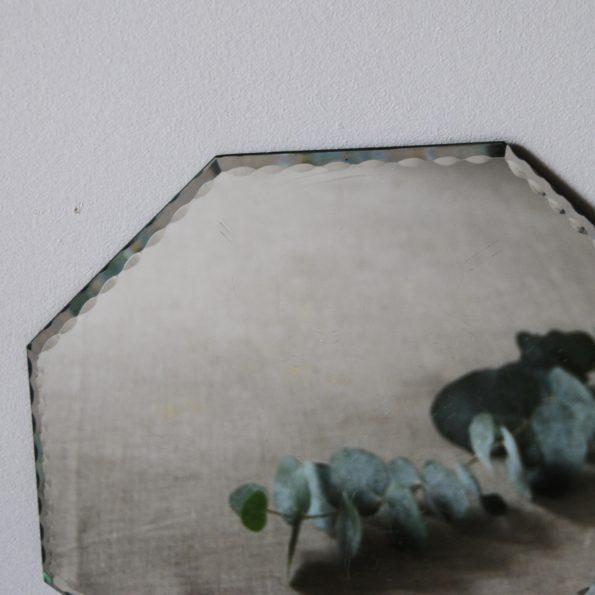 Miroir octogonal vintage ciselé
