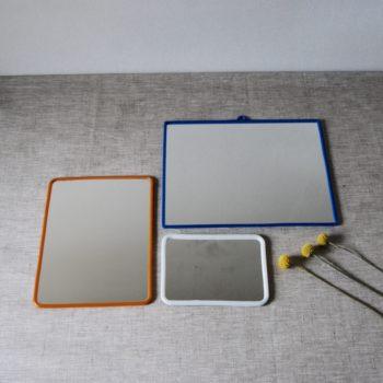 Miroir barbier vintage plastique x3