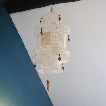 Suspension macramé lanterne