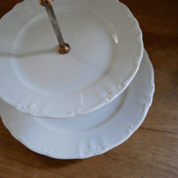 Plat serviteur en porcelaine blanche Winterling Bavaria