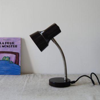 Lampe vintage métal marron