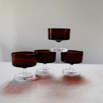 Coupes rouge rubis