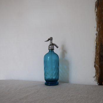 Bouteille siphon bleu