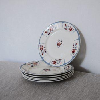 Assiettes plates Digoin Sarreguemines Ninette