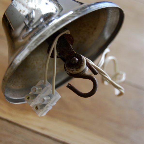 Suspension vintage métal et opaline