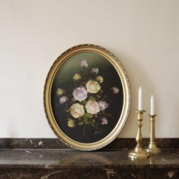 Tableau peinture sur toile fleurs