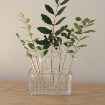 Soliflores en verre vintage